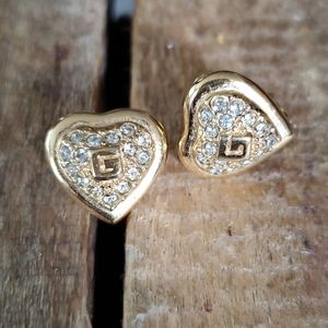 Authentic Vintage Givenchy Gold Logo Heart…
